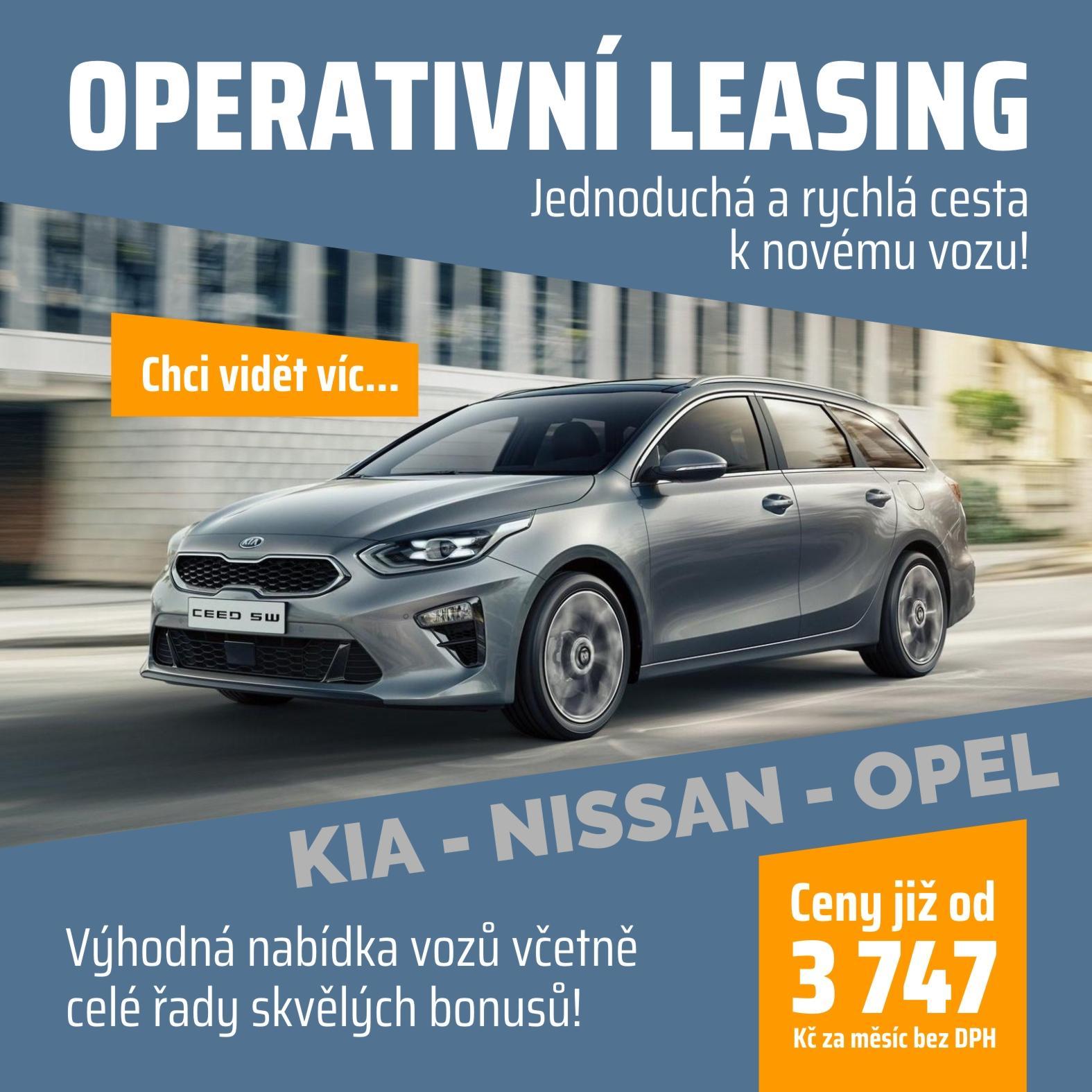 Operativní leasing od 3747,- Kč